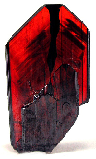 Unfaceted Brookite